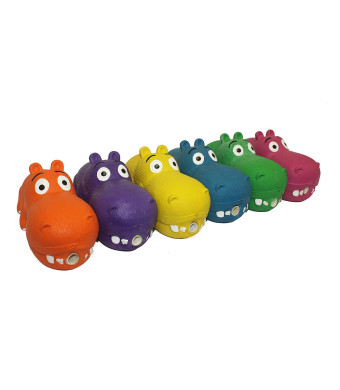 Multipet Latex Dog Squeaker Hippo