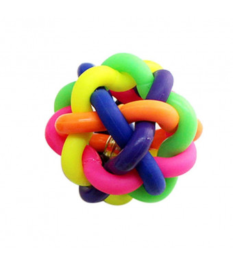 Kim88 Colorful Ball With Bell Pet Dog Products Toy Poodle Pet Toy