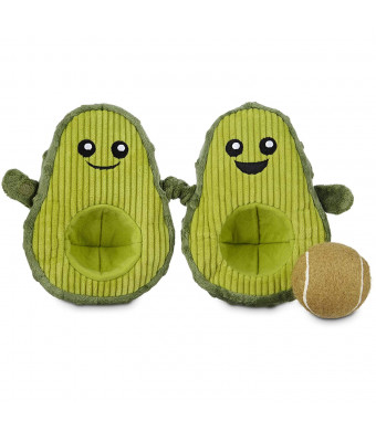 Leaps and Bounds Play Plush Avocado Dog Toy