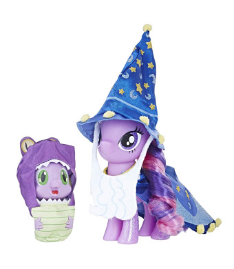 My Little Pony Twilight Sparkle and Spike the Dragon Collector's Series Figures  Star Swirl the Bearded Outfit and Spell Book Package for Display