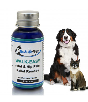 BestLife4Pets Walk-Easy Hip and Joint Supplement for Dogs and Cats; Advanced Anti-inflammatory Support and Arthritis Pain Relief Pills Improve Mobility and Take Your Pet's Pain Away