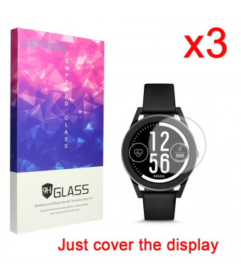 for Fossil Q Control Screen Protector, Lamshaw 9H Tempered Glass Screen Protector for Cover The Display - GEN 3 Sport SMARTWATCH - Q Control (3 Pack)