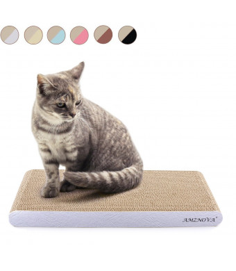 AMZNOVA Cat Scratcher, Scratching Pad, Durable Recyclable Cardboard with Catnip, Colors Series, 7 Colors and 2 Sizes
