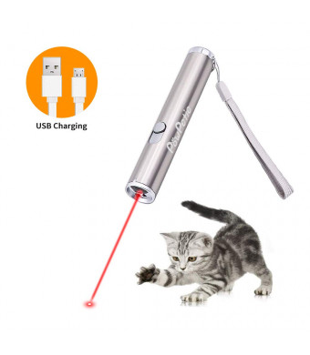 PowPetie Cat Laser Pointer, 3 in 1 Rechargeable LED Pet Red Dot Toys USB charging/UV Light/Flashlight Interactive Pet Chaser Toys - Training and Exercise Tool, scorpion light