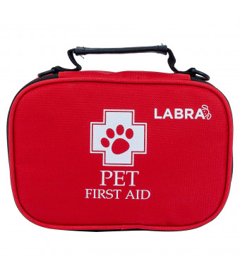 Labra Pet Canine K9 Dog First Aid Kit for Emergencies Safety when Walking Running Hiking Camping Injuries Cuts Wounds Scrapes