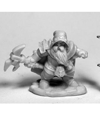 Reaper Miniatures Durok, Dwarf Ranger #77480 Bones Unpainted Plastic Mini Figure