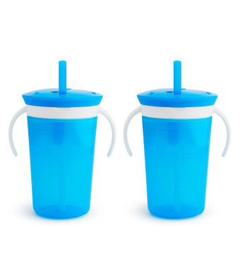 Munchkin SnackCatch and Sip 2-in-1 Snack Catcher and 2 Piece Spill-Proof Cup, Blue