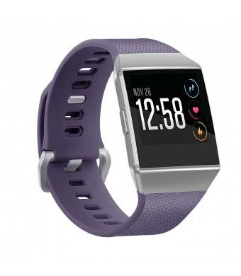 Tonsya Fitbit Ionic Bands Classic Replacement Wristbands Accessory Bands for Fitbit Ionic Smart Watch,10 Colors Small Large, Men Women No Tracker (Purple, Large)