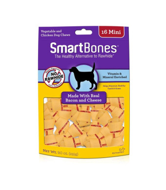 Smartbones Count Bacon and Cheese Pet Chew Treats