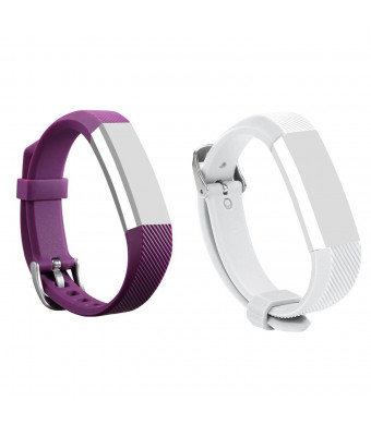 Fitbit Alta Band, Silicone Replacement Band for Fitbit Alta HR and Alta Band With Metal Clasp