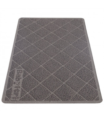 """Babyltrl Extra Large Cat Litter Mat, XL Jumbo Size, 35"""" x 23"""", Phthalate Free, Traps Litter from Box and Paws, Non-Slipping Backing, Easy to Clean, Soft for Sensitive Kitty Paws"""