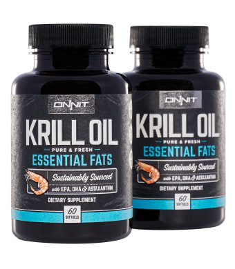 Onnit Krill Oil - 1000mg Extra Strength Antarctic Krill Oil with Omega 3 DHA and EPA, Astaxanthin and Essential Phospholipids (120ct)