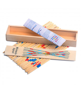 Classic Wooden Thin Pick Up Stick Game 31 Pieces Fun Family Game Gift Idea