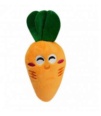 Kim88 Dog Puppy Chew Toy Squeaky Plush Sound Cute Vegetable Carrot Design Toys