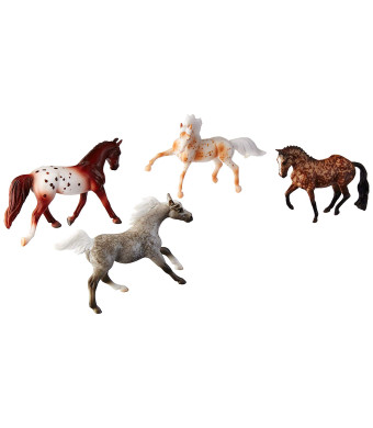 Breyer Stablemates Dapples and Dots Horse Toy Set (1: 32 Scale), Multicolor