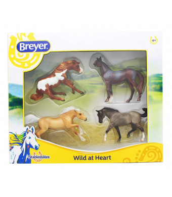Breyer Stablemates Wild at Heart Horse Toy Set (1:32 Scale)