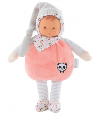 Corolle mon doudou Elf Happy Panda Toy Baby Doll, Pink