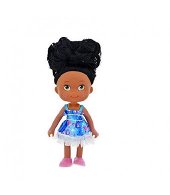 "1 Black African American Baby Girl Doll Movable 5"". Goes great with Barbie Collection. Fashion Classic. Birthday Party Christmas Gifts. Changeable Shoes Clothes Dress. Kids Toddlers -Style Varies"