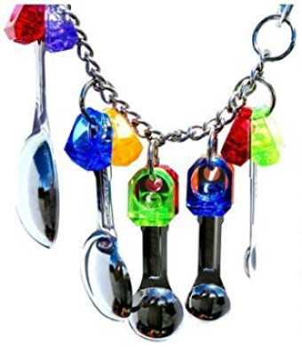 Hapa Spoon Delight Parrot Toy Cage - Craft Bird Toys Cages for Small Dog,Cat Pet Cockatiel,African Grey,Cockatoo (Random Color)