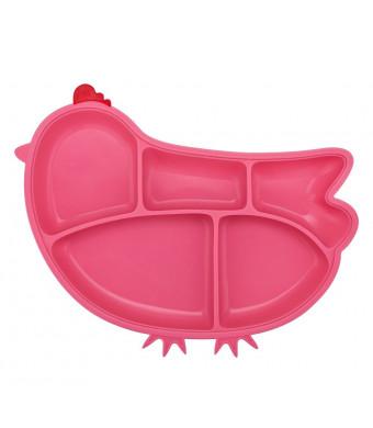 Innobaby Din Din Smart Silicone Suction Chicken Plate for Children, Pink