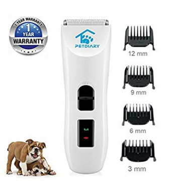 Nom Nom Puppy Dog Hair Clippers Pet Grooming Clippers Shaver for Dog Cat Hair Trimmer Rechargeable Cord Cordless Powerful Electric Clippers Stainless Steel Fixed Cleaning Brush