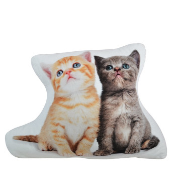 OiseauVoler 3D Animals Soft Plush Cushions Decorative Cute Cat Toy Pillow for Kids Home Bed Sofa Pet