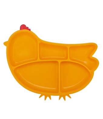 Innobaby Din Din Smart Silicone Suction Chicken Plate for Children, Yellow