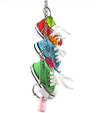 Hapa 3 Mini Creations Sneaker Bird Toy - Parrot Toys Craft Cage for Small Dog,Cat,Pet Cockatiel,African Grey,Cockatoo