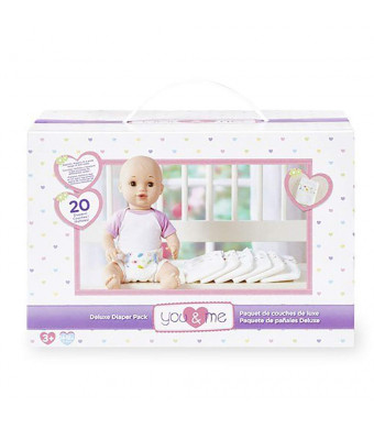 "You and Me Deluxe Doll 20 Count Diaper Pack for 14-18"" Dolls"