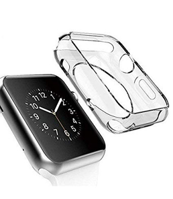 [2 Pack] Apple i Watch 38mm - ultra-thin hd clear Premium quality TPU protector for apple watch series 2 and series 3