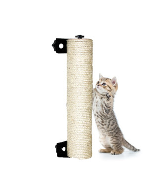LUCKSTAR Cat Scratching Post -Wall Mounted Sisal Scratching Post for Cat Cage Grinding Claws Cat Toy Cat Accessories Exerciser for Cats or Kitty