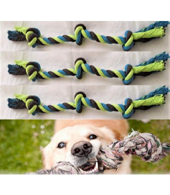 """RMH Products Knotted Dog Rope Chew Tug, 16"""" Tripple Knotted"""