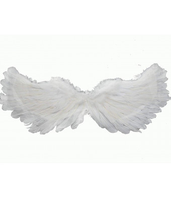 W Fashion shop Angel Feathered WingsWhite Flying Swallow Wing Medium