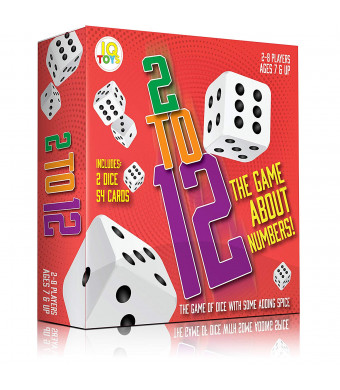 2 to 12 Math Dice Adding Card Game for Kids and Adult - 54 Cards and 2 XL Dice