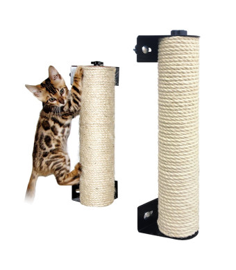 LOHOME Cat Scratching Post - The Cat Scratching Pole Designed for Cage Cat Scratcher Made by Sisal Cat Cage Scratching Post Cat Furniture (2.7 x 15.7 inch)