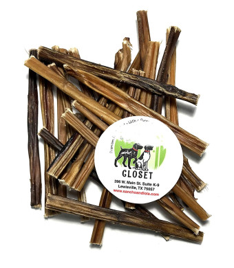 Sancho and Lola's 6-Inch Bully Sticks for Dogs Made in USA - Gourmet Beef Pizzle Beef Dog Chews No Antibiotics No Growth Hormones (See All Package Options)