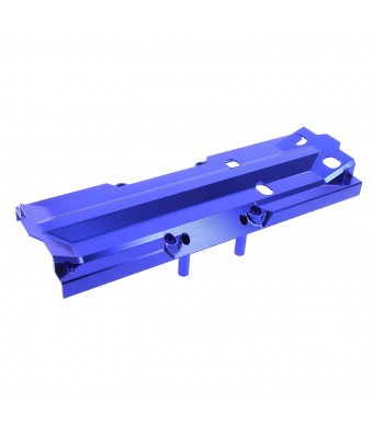Atomik RC Traxxas X-Maxx Alloy Center Skid Plate, Blue TRX 7745