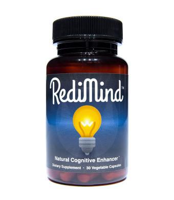 RediMind - Natural Cognitive Enhancement Supplement - Non-GMO, Vegan, Gluten-Free