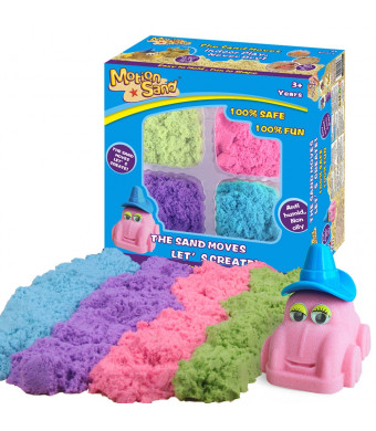 Motion Sand 2.64lbs Refill Play Sand for Kids,4 Mixed Colors Included, Play Sand for All Ages
