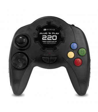 My Arcade - Plug N Play Controller with 220 Built-in Retro Style Games - Electronic Games