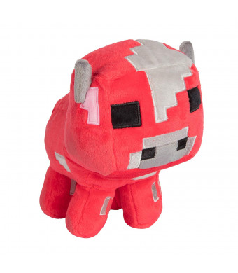 "JINX Minecraft Happy Explorer Baby Mooshroom Plush Stuffed Toy (Red, 5.25"" Tall)"