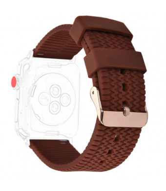 XiangMi Replacement Band Compatible Apple Watch Series 3 Series 2 Series 1,Silicone Sport Tire Tread Design Wristband Strap Bracelet Bands Compatible iWatch 38mm 42mm