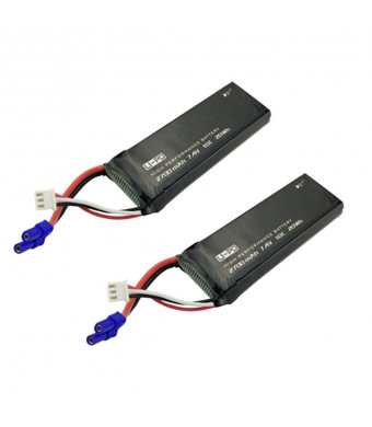 Fytoo Battery Accessories 7.4V 2700mAh 10C Battery for Hubsan H501S X4 H501C H501A H501M H501S W H501S pro Four-axis Aircraft Helicopter Aerial Camera Spare Parts