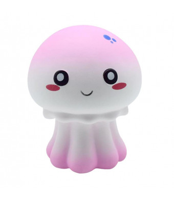 Wotryit New Colour Octopus Scented Squishy Slow Rising Squeeze Toy Collection Cure Gift (pink)