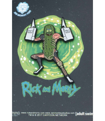 "Officially Licensed Rick and Morty - Pickle Rick With Rat Limbs 1.65"" Collectible Pin"