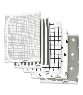 """Burp Cloths for Boys and Girls by Matimati Baby, Extra Large 21x10 and Super Absorbent Burp Cloth Set of 5, Keep Baby's and Parent's Clothes Dry, Excellent Gift Monochrome"""""""