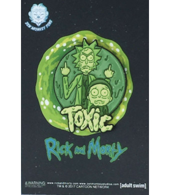 "Officially Licensed Rick and Morty - Toxic 1.5"" Collectible Pin"