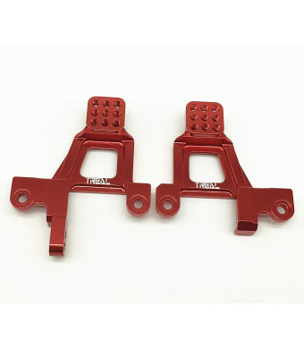 Treal Alloy Front Shock Towers (Left and Right) for Traxxas TRX-4 Crawler RC Car - Red
