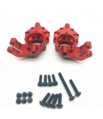 Treal Alloy Inner Front Portal Drive Housing for Traxxas TRX-4 Crawler RC Car (2) pcs - Red