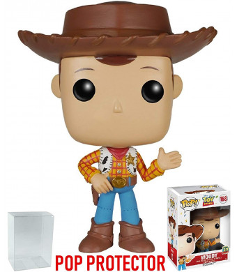 "Funko Pop! Disney Pixar: Toy Story - Woody ""20th Anniversary"" New Pose 2nd version Vinyl Figure (Bundled with Pop BOX PROTECTOR CASE)"